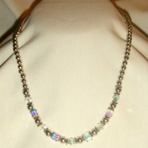 Northern Lights Sterling Bead Necklace #1594